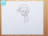 8 этапов как нарисовать снеговика