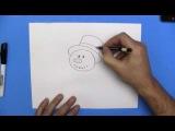 Как нарисовать снеговика простым карандашом