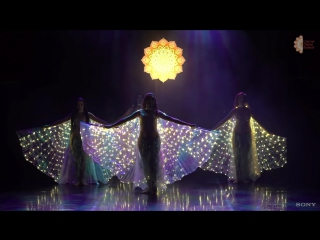 Cracow Orient Festival 2016, Caramel Belly Dance, Sea --Sirens Belly Dance Show, LED Isis Wings