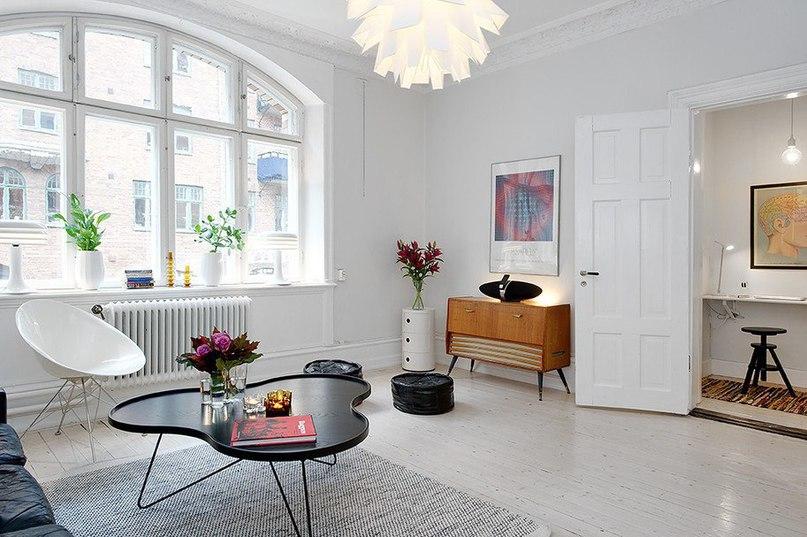 Двухкомнатная квартира в скандинавском стиле площадью 47 кв.