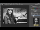 CC - Эффект матового ЧБ (Matte Black and White) в фотошопе