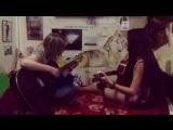Танцы минус. У ночного огня. Гитары. Девушки поют.