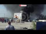 В Омске произошел пожар на территории строящегося строительного супермаркета