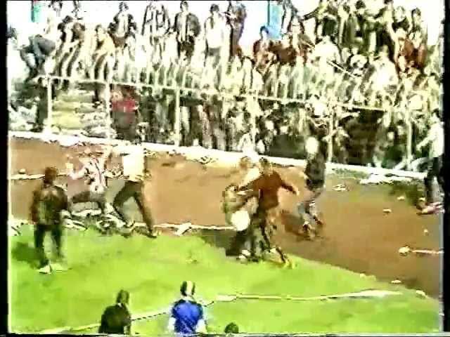 Glentoran v Linfield 1983 cup final riot