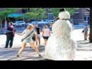 Scary Snowman Hidden Camera Practical Joke US Tour 2016 * Over 100 Reactions