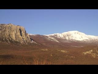 Крым. Парагильмен, заснеженная Куш-Кая, замерзшее Горное озеро сегодня (20.01.2017)