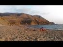 Крым, Судак, Меганом, пляж Рыбачий, закат, 18 сентября 2017 г.