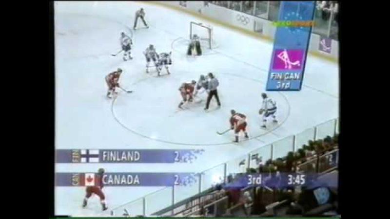 25.02.1994 г., ОИ в Лиллехаммере, полуфинал Канада - Финляндия (5:3).