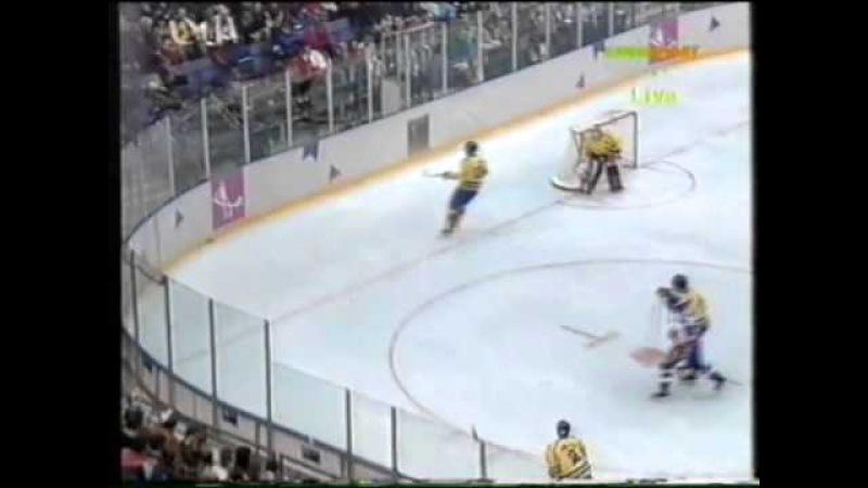 13.02.1994 г, ОИ в Лиллехаммере, матч Швеция - Словакия (4:4).