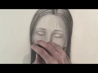 Как нарисовать капли воды на лице