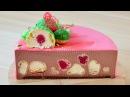 Муссовый торт с профитролями ☆ Шоколадный мусс ☆ Ягодное кули ☆ Шоколадный бисквит на белках