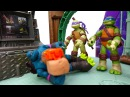 Черепашки ниндзя детское видео с игрушками! Слэш пытается взорвать черепашек. Ф...