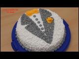 Торт Пиджак  Торт с белковым заварным кремом  Украшение тортов