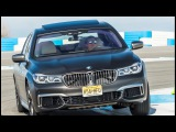 BMW M760Li on Palm Springs Raceway, great SOUND from  V12 BiTurbo 600 HP and 800 Nm