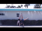 LESBIAN YOUTUBERS DOING CARTWHEELS - PALM SPRINGS