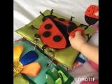 Именная развивающая книжка из ткани и фетра