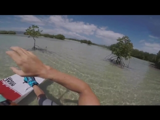 Little kite ride through the mangroves with Brandon Scheid
