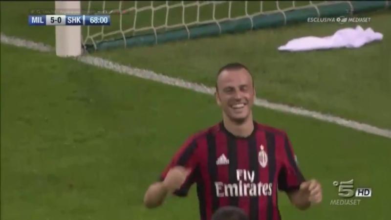Милан 5-0 Шкендия / гол Антонелли