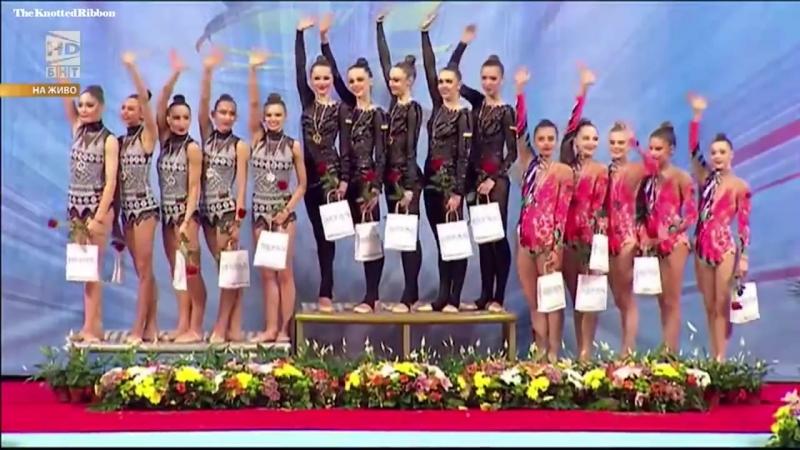 Гимн Украины исполнялся дважды после победы наших гимнасток