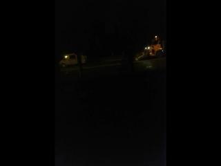В Курске после дождя поливают асфальт