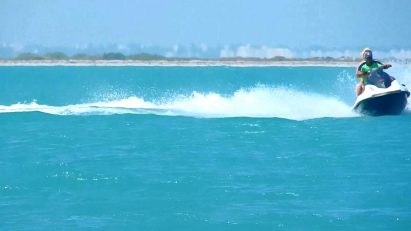 Тунис, остров Джерба,морская прогулка на остров Фламинго