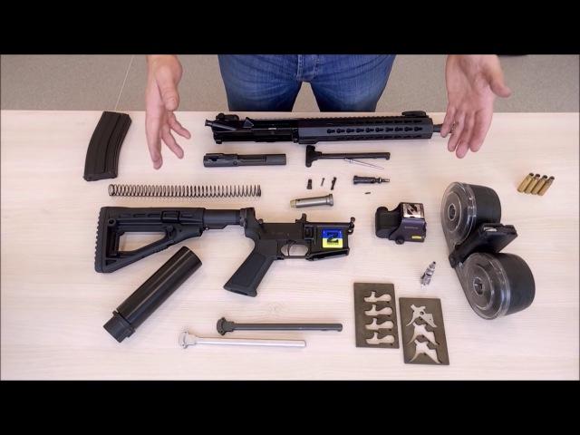 Carbine Z-15 (M4/AR-15/M16) полная разборка