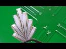 Веточка из узкой ленты при помощи шаблона A sprig of narrow ribbon using template