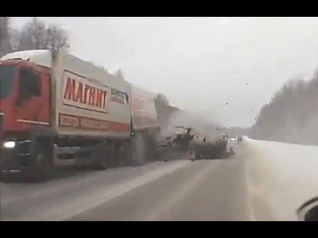 Tragic accident in Russia January 2017 Car crash compilation
