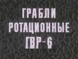Грабли ротационные ГВР 6. 1980 год.