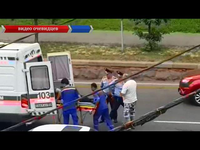 Очевидцы сняли наезд на пешехода в Алматы