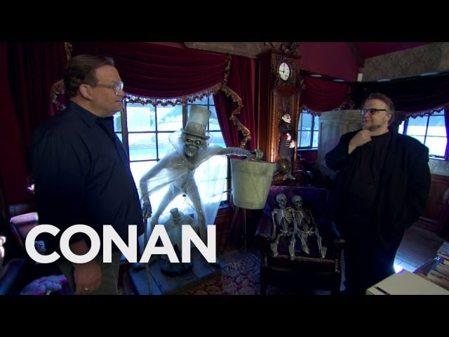Andy Visits Guillermo Del Toro's Bleak House - CONAN on TBS