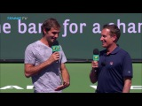 Roger Federer interview and funny song  Indian Wells 2017 Day 9