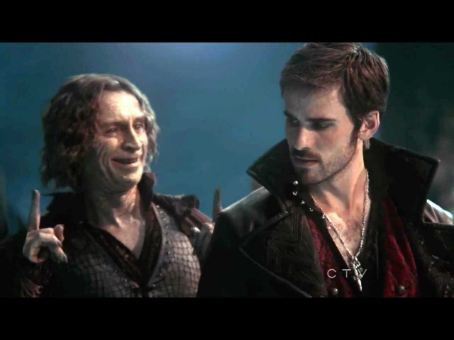 Once Upon A Time S02E04 Rumpelstiltskin proposes duel to Killian Jones, aka Captain Hook