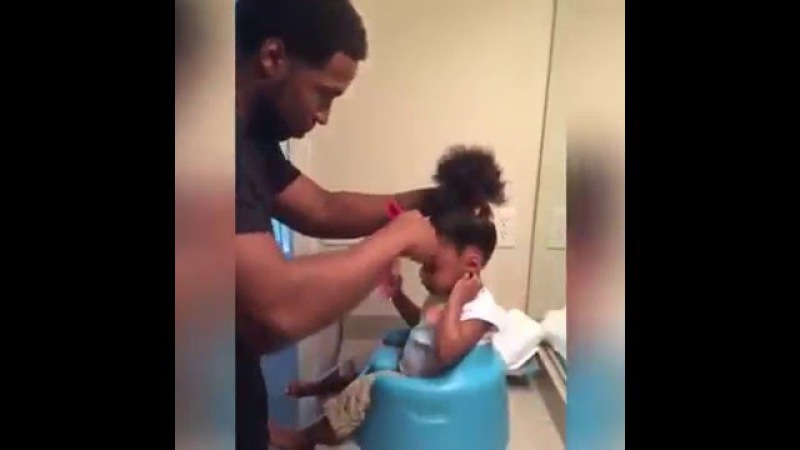 LOL! When Dads Do Their Baby Girl's Hair 😂 | Blacks Dad Are The Best