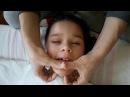 КАК ДЕЛАТЬ Логопедический массаж лица ребенку ДЦП!! улучшения речи 100% Детский канал