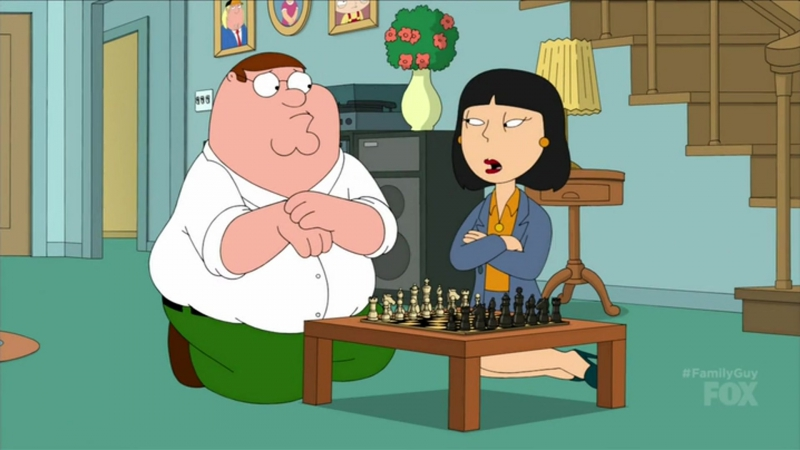 Family Guy 15x08. It's time to master the game of chess