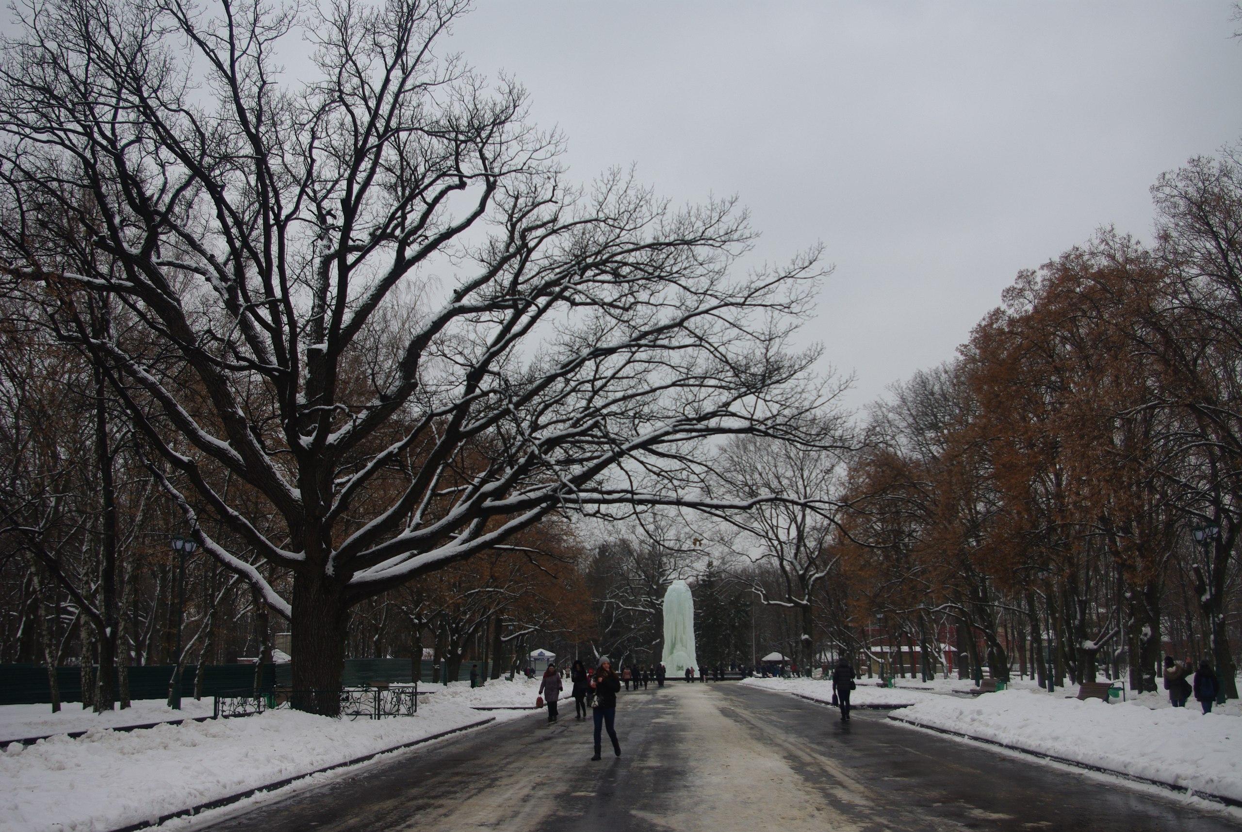 большая сосулька в Харькове