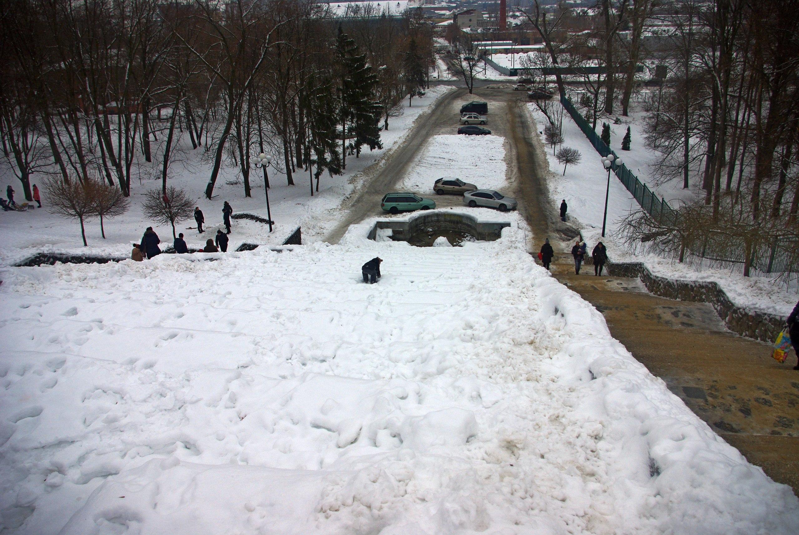 зимний Харьков, сад Шевченко 2017