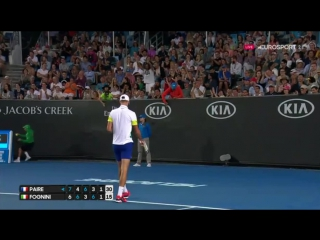 ПРЕКРАСНАЯ СВЕЧА ФАБИО (Fognini-Paire hot shot at Australian Open 2017)