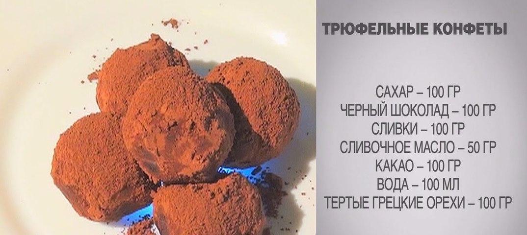 Шоколадный трюфель рецепт конфеты