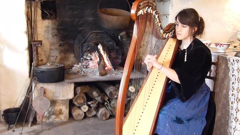 Marion Le Solliec Девушка красиво играет на арфе Inis Mona (Tri Martolod Yaouank) - ELUVEITIE - celtic harp ⁄ harpe