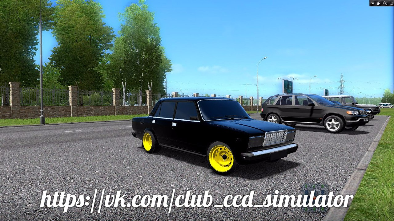 Ваз 2107 (Блек Джек) для City Car Driving 1.5.2