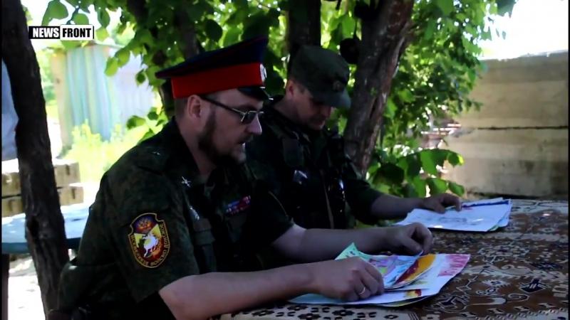 Защитникам ЛНР на передовой вручили детские рисунки