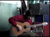 импровизация на гитаре в восточном - испанском стиле