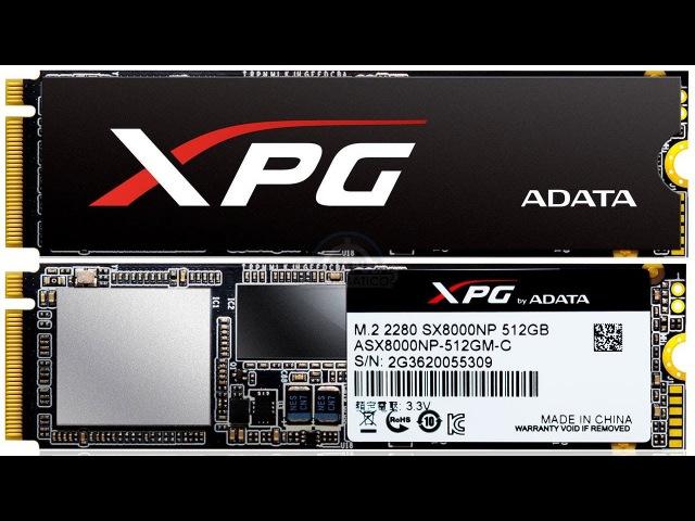SSD-накопитель AData XPG SX8000 (256 ГБ): PCIe и NVMe в бюджетном исполнении
