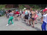 Bachata footwork battle - Alex &amp Valeri Orischenko - Agua Blanca Salsa Festival
