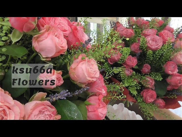 Floristics lessons Bouquet from roses ☼Флористика Уроки Флористики Букет из кустовых роз