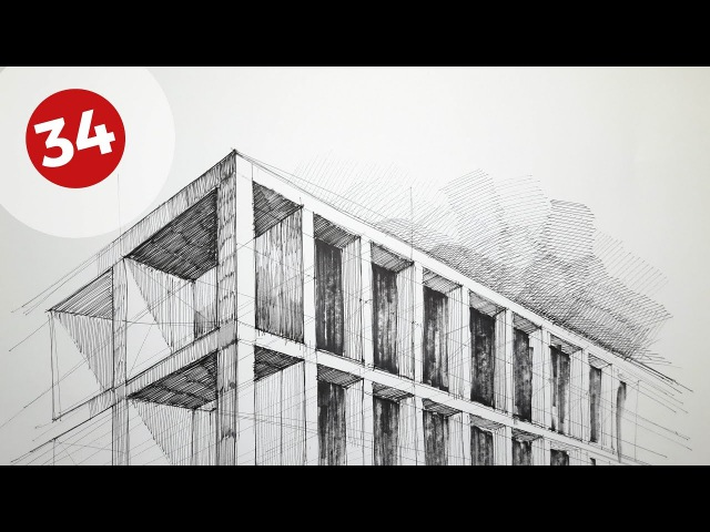 Drawing Buildings Facade | Daily Architecture Sketches 34