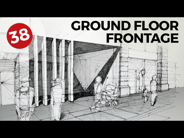 Drawing Ground Floor Frontage | Daily Architecture Sketches 38