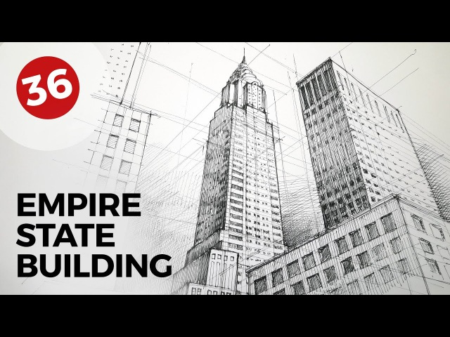 Drawing Chrysler Building | Daily Architecture Sketches 36